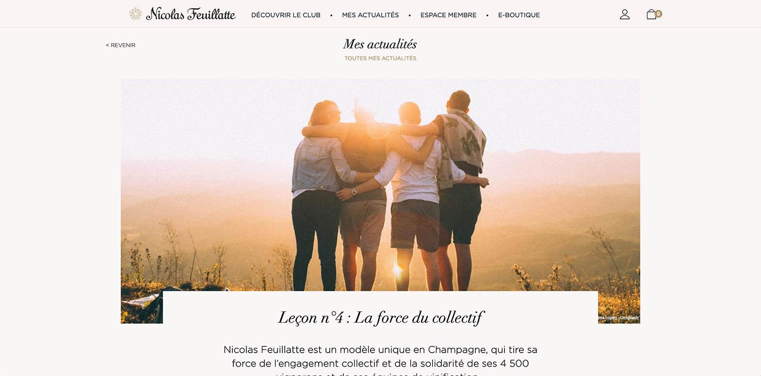 La force du collectif Nicolas Feuillatte - Agence Discovery