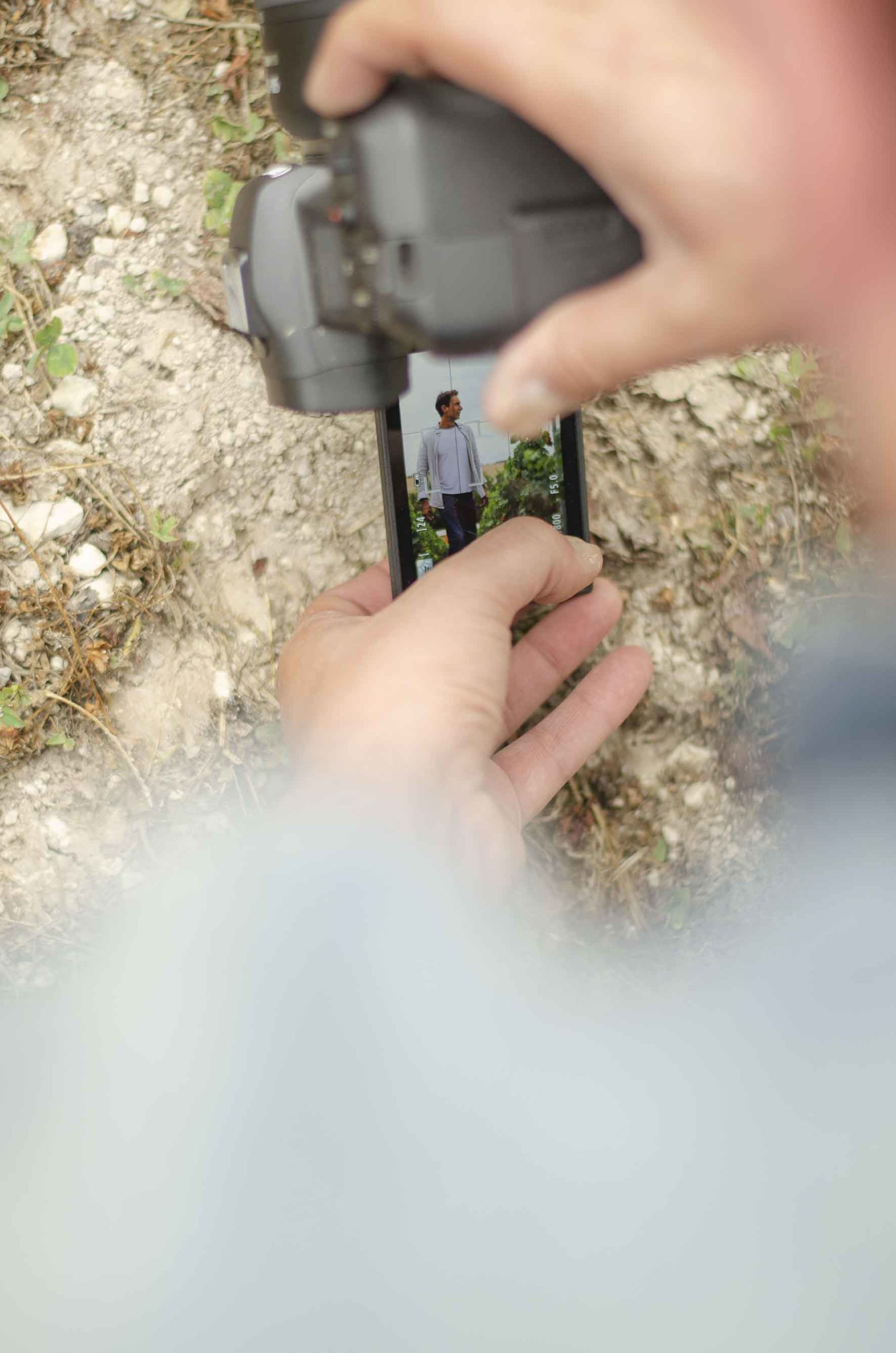 Reportage photo dans les vignes pour le Chamapgne Antoine Chevalier - Agence Discovery