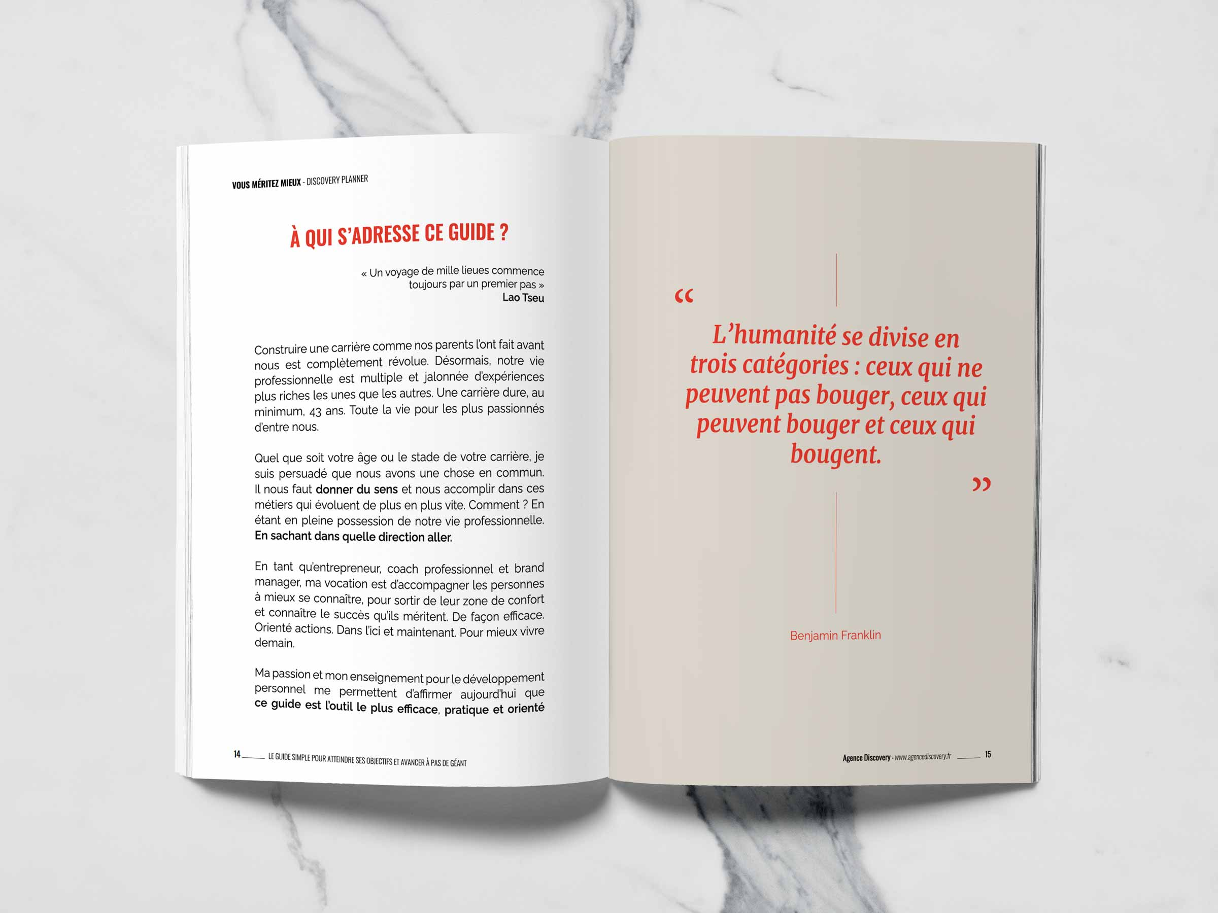 Discovery Planner - Le guide simple pour atteindre ses objectifs professionnels et personnels - Agence Discovery