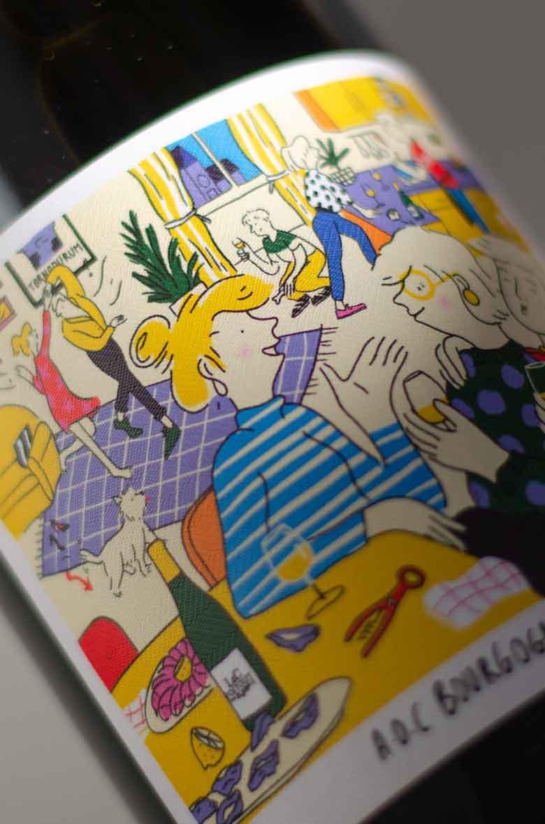 Illustration bouteille Vin de Chablis blanc 03 - Tonnerre par L&C Poitout - Réalisation Agence Discovery